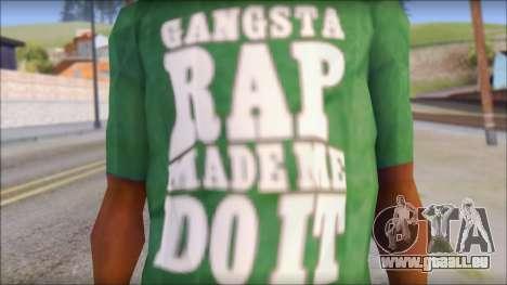 Ice Cube T-Shirt pour GTA San Andreas troisième écran
