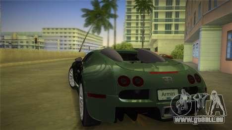 Bugatti Veyron für GTA Vice City linke Ansicht