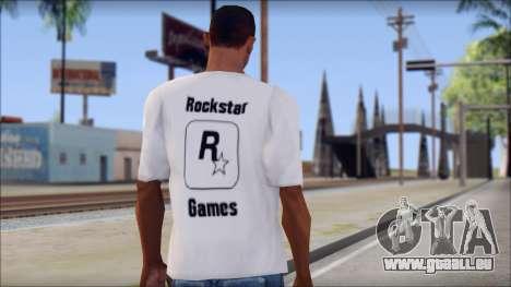 Rockstar Games White T-Shirt pour GTA San Andreas deuxième écran
