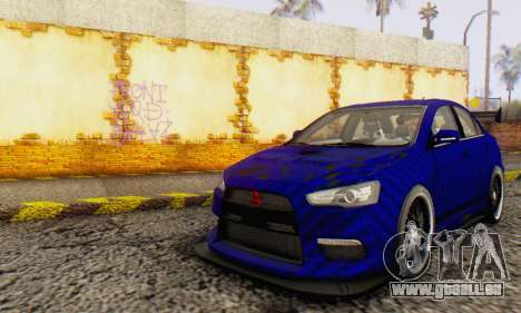 Mitsubishi Lancer EVO X Carbon Coloured für GTA San Andreas