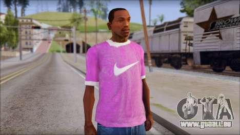 NIKE Pink T-Shirt pour GTA San Andreas