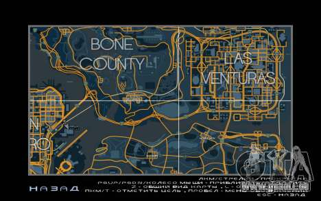 Carte de course style de Trace de la Carte pour GTA San Andreas