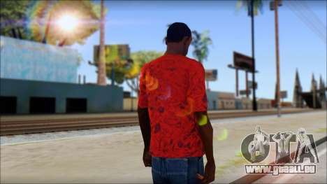 DVS T-Shirt pour GTA San Andreas deuxième écran