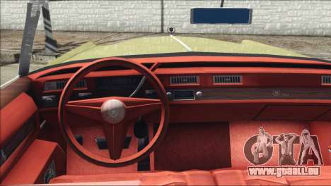 Cadillac Eldorado Stock pour GTA San Andreas sur la vue arrière gauche