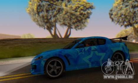 Mazda RX-8 VeilSide Blue Star pour GTA San Andreas vue intérieure