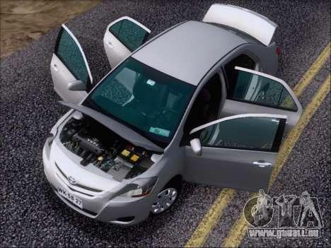 Toyota Yaris 2008 Sedan pour GTA San Andreas vue de dessus