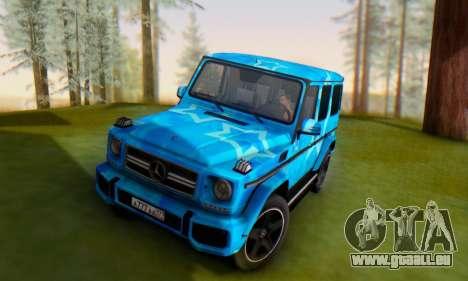 Mercedes-Benz G65 Blue Star für GTA San Andreas Seitenansicht