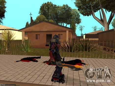 Optimus Sword pour GTA San Andreas cinquième écran