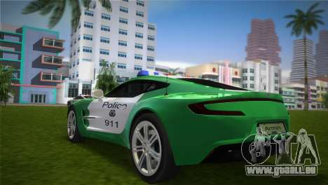 Aston Martin One-77 police für GTA Vice City linke Ansicht