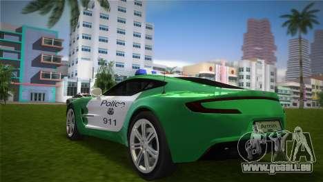 Aston Martin One-77 police für GTA Vice City linke Ansicht