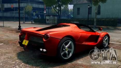 Ferrari LaFerrari für GTA 4 linke Ansicht