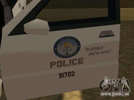 Police Original Cruiser v.4 pour GTA San Andreas vue de côté