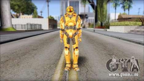 Masterchief Orange pour GTA San Andreas deuxième écran