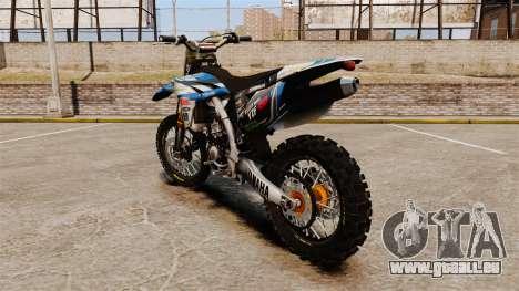 Yamaha YZF-450 v1.14 pour GTA 4 Vue arrière de la gauche
