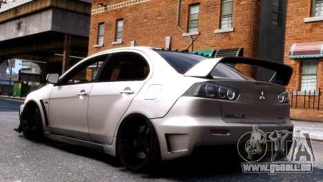 Mitsubishi Lancer Evolution FQ400 für GTA 4 rechte Ansicht