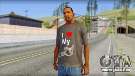 I love my gun T-Shirt pour GTA San Andreas