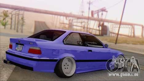 BMW M3 E36 Coupe Slammed pour GTA San Andreas laissé vue