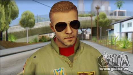 USAF Pilot On Base für GTA San Andreas dritten Screenshot