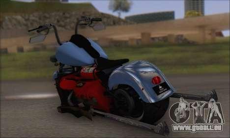 Boss Hoss v8 8200cc pour GTA San Andreas sur la vue arrière gauche