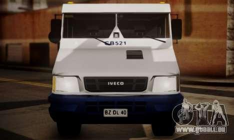 Iveco Daily Brinks pour GTA San Andreas vue de droite