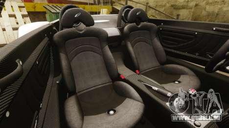 Pagani Zonda C12S Roadster 2001 v1.1 PJ2 für GTA 4 Seitenansicht