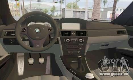 BMW M3 E92 Soft Tuning für GTA San Andreas Innenansicht