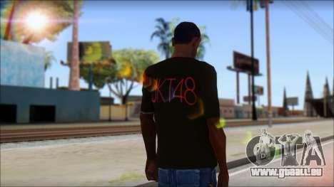 JKT48 Joyfull Kawai Shirt pour GTA San Andreas deuxième écran