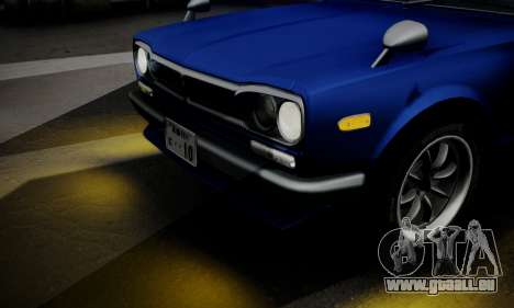 Nissan Skyline GC10 2000GT für GTA San Andreas obere Ansicht