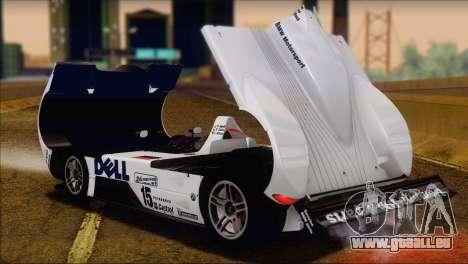 BMW 14 LMR 1999 für GTA San Andreas Rückansicht