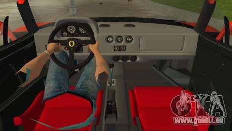 Ferrari F40 pour une vue GTA Vice City de la droite