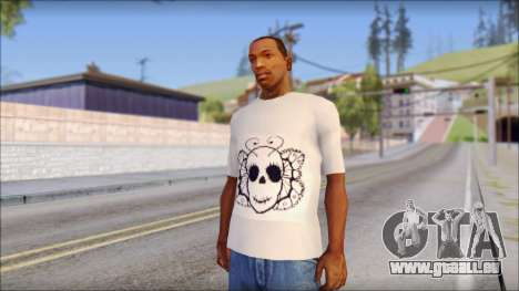 Skull Butterfly T-Shirt pour GTA San Andreas