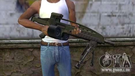 XM8 LMG Olive pour GTA San Andreas troisième écran