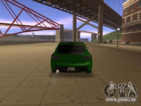 Mazda 3 pour GTA San Andreas sur la vue arrière gauche