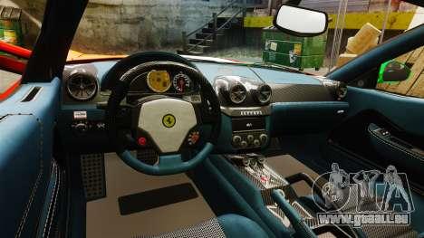 Ferrari 599 GTO PJ4 pour GTA 4 est une vue de l'intérieur