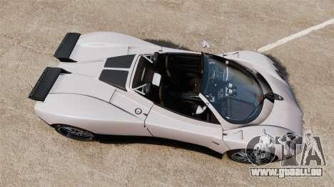 Pagani Zonda C12S Roadster 2001 v1.1 PJ2 für GTA 4 rechte Ansicht