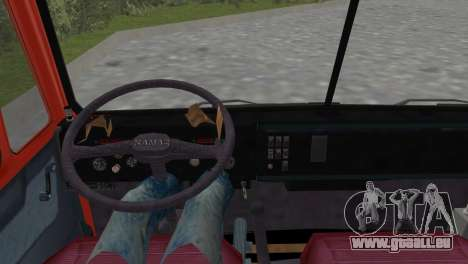 KamAZ 5511 pour GTA Vice City sur la vue arrière gauche