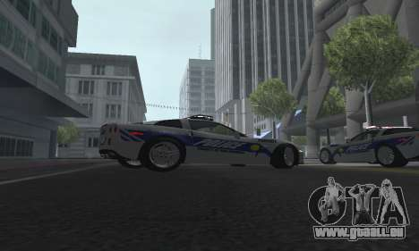 Chevrolet Corvette Z06 Police pour GTA San Andreas vue de droite