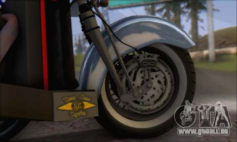 Boss Hoss v8 8200cc pour GTA San Andreas vue intérieure