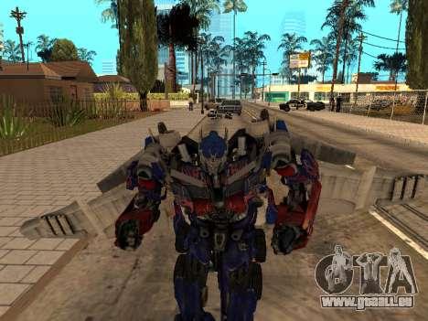 Optimus Jetpack pour GTA San Andreas quatrième écran