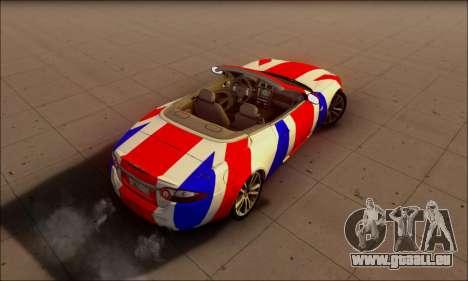 Jaguar XK 2007 für GTA San Andreas Rückansicht