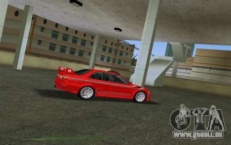 Mitsubishi Lancer Evolution 6 Tommy Makinen Edit pour GTA Vice City sur la vue arrière gauche