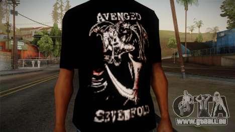 Avenged Sevenfold Reaper Reach T-Shirt pour GTA San Andreas troisième écran