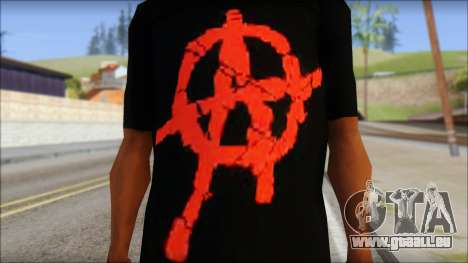 Anarchy T-Shirt Mod v2 pour GTA San Andreas troisième écran