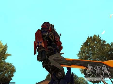 Optimus Sword pour GTA San Andreas quatrième écran