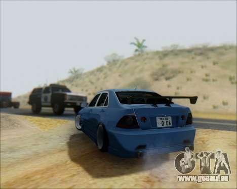 Toyota Allteza C-West pour GTA San Andreas vue arrière
