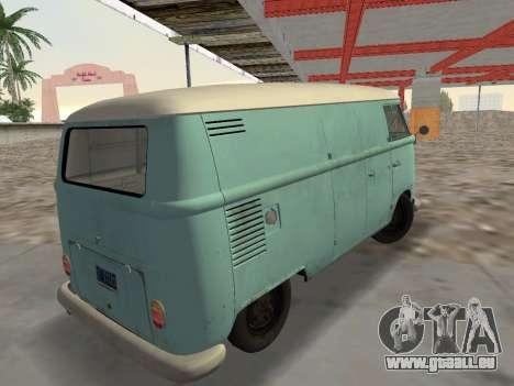 Volkswagen Type 2 T1 Van 1967 pour une vue GTA Vice City de la gauche