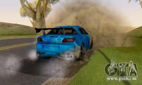 Mazda RX-8 VeilSide Blue Star pour GTA San Andreas vue de dessus