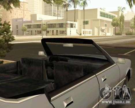 Sentinel Cabrio für GTA San Andreas rechten Ansicht