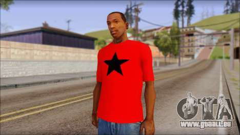 Vidick from Infected Rain Red T-Shirt pour GTA San Andreas