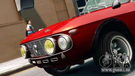 Lancia Fulvia HF für GTA 4 hinten links Ansicht